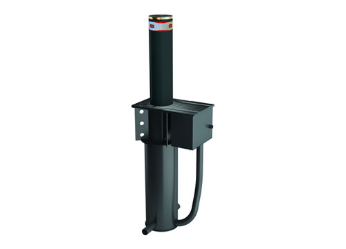 BFT Retractable bollard made of steel with hydraulic pump – certified anti-terrorism